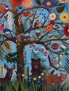 Original Still life Painting-Tree OF Life by CatherineNolinArt
