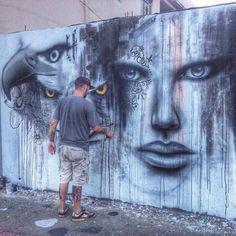 Street Art @GoogleStreetArt shared Street Art by AQI Luciano in Brazil via…