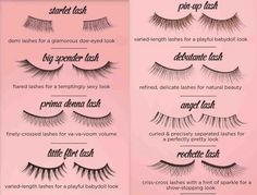 Guide to the many types of eyelashes there are available ♥✤ | Keep the Glamour | BeStayBeautiful