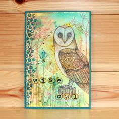 Janie's Collection – Oliver Owl stamp set designed by Janie Burnet. Foam Sheets, Hobbies And Crafts, Clear Stamps, Beautiful Birds, Printmaking, Card Making, Poster, Mixed Media, Artist