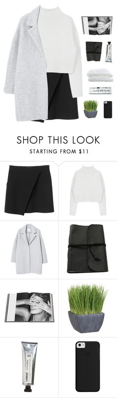 """""""we're swimming through our dreams"""" by thenewgirl3 ❤ liked on Polyvore featuring Monki, Dion Lee, MANGO, Rizzoli Publishing, Crate and Barrel and L:A Bruket"""