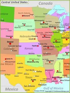 States And Capitals, United States Map, Usa Road Map, Southwest Usa, Southwest Airlines, Highway Map, Satellite Maps, Wooden Map, Tourist Map