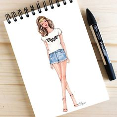 We are all WonderWomen! Style of Brush by Gizem Kazancıgil #fashionillustration gizem kazancigil