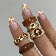 I Love Jewelry, Jewelry Rings, Jewelery, Jewelry Accessories, Brown Rings, Jewelry Tattoo, Accesorios Casual, Diy Crafts Jewelry, Cute Nail Designs