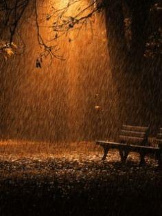 Light rain in the light