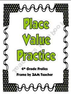 4th-Grade-Frolics Shop - | Teachers Notebook