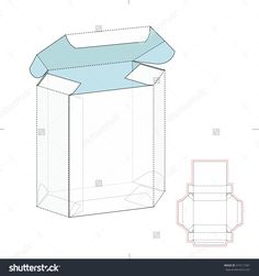Custom Box Design With Die Line Template Stock Vector Illustration 319117361 : Shutterstock