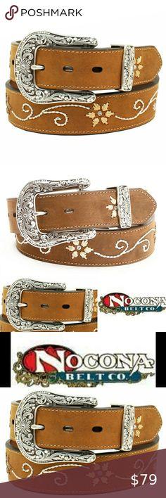 Medium Brown Distressed Nocona Boys Cowboy Prayer Buckle Belt 24