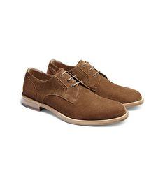ERMENEGILDO ZEGNA:Chaussures À LacetSuédés Semelle en cuir Marron44955210VU