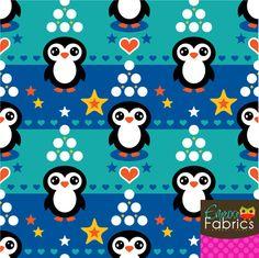 Emrose Fabrics Penguin Winter Organic Cotton Knit - Emrose Designs, LLC