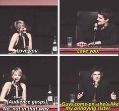 When they said they loved each other...but like a bro and sis: | 27 Times Jennifer Lawrence and Josh Hutcherson Proved They Have The Best Offscreen Relationship Ever