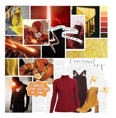 """""""The Flash (Barry Allen) // Life is Locomotion"""" by auntiewhispers ❤ liked on Polyvore featuring Dorothy Perkins, Rumour London, Chloé, Sharpie and Gorjana"""
