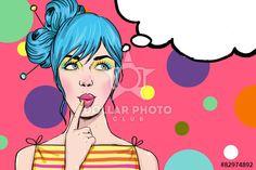 Pop Art girl. Party invitation