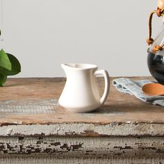This petite creamer is perfect for holding the milk or half and half for your morning cup of coffee. It looks especially sweet added on a serving tray at a brun