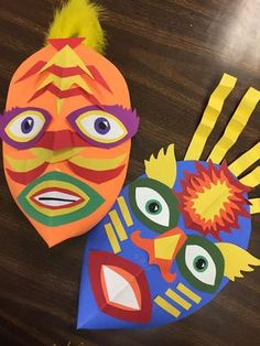 Elements of the Art Room: 5th Grade Masks!