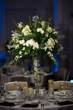 Tall cream vintage centerpiece wedding, philadelphia wedding