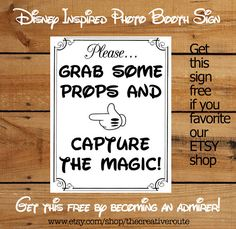 Disney Inspired Photo Props Printable Large by TheCreativeRoute