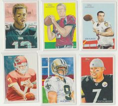 "Lot of (6) 2010 Topps National Chicle Football Cards ""Quarterback"" Set"