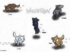 Kawaii chibi wolfs