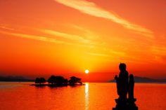 世界の夕方、宍道湖