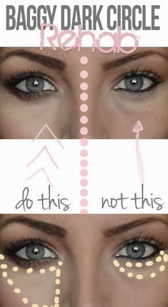PinTutorials: Great tips for concealing dark under-eye circles