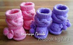 Baby Girl Sandals, Crochet Baby Sandals, Crochet Baby Boots, Knit Baby Dress, Knit Baby Booties, Knitted Baby Clothes, Crochet Shoes, Baby Shoes, Baby Knitting Patterns