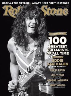 Eddie Van Halen. I still find it so freaky that Eddie and Valerie look liked brother and sister, for real!