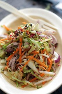 cole slaw with wasabi dressing by daveleb, via Flickr - topping for pulled pork sandwiches