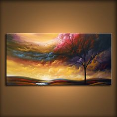 art abstract painting wall decor home decor wall by mattsart, $399.00