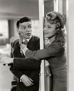 "Frank Sinatra and Anne Jeffreys in ""Step Lively"" (1944)."