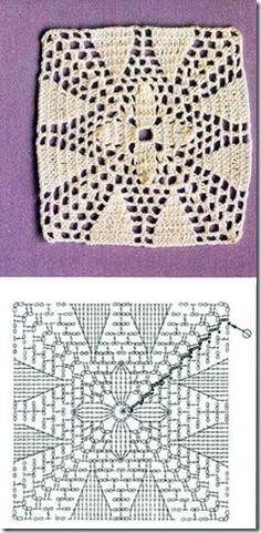 crochet square chart