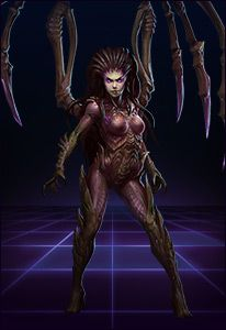 KERRIGAN QUEEN OF BLADES Once a Terran ghost with unprecedented psionic abilities, Sarah Kerrigan was betrayed by her allies and transformed by the ravenous zerg into the indomitable Queen of Blades. Now freed of The Dark God Amon's corruption, Kerrigan faces a threat that could destroy the galaxy itself.