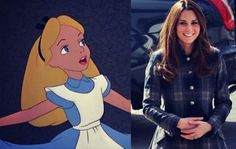 If Disney Characters Had Celebrity BFFs----Alice and Kate Middleton