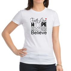 Inspirational typographic Mesothelioma Awareness shirts and gifts featuring powerful words of Faith Love Hope Cure Determination Strength Victory Courage & Fight by HopeDreamsDesigns.Com