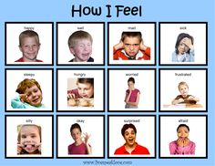 Creative Curriculum Objectives: 43 After reading How I Feel book, talk about facial expressions and body language that indicate feelings. Look at how I feel chart and ask child to determine the feelings demonstrated. Have child make own How I Feel Feelings Chart, Feelings And Emotions, Speech Language Therapy, Speech And Language, Body Language, Speech Therapy, Teaching Strategies Gold, Conscious Discipline, Social Emotional Development