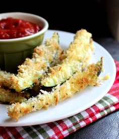 Crispy Baked Zucchini Fries ... So yum! These rock! Make sure the oven is completely hot before cooking. They are best when cooked through.