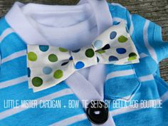 Little Boy's Cardigan Set- short sleeve and perfect for summer!! | Boys clothing | baby shower gift | home coming outfit | family pictures | bow tie onesie