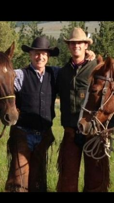 Mark and his son Sean in Montana on vacation