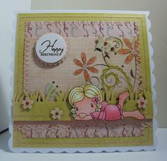 Love this card with such a great image from C.C. Designs.  Amanda's Paper Palace: LAYING NORA