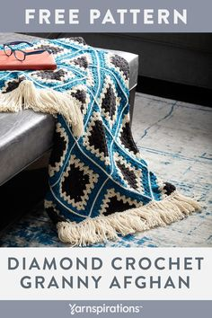 Crochet afghans 604115737493411065 - Free Easy Crochet Afghan Pattern Source by iokhaiokha Granny Square Crochet Pattern, Afghan Crochet Patterns, Crochet Squares, Crochet Afghans, Crochet Blankets, Easy Crochet Blanket, Granny Squares, Crochet For Beginners Blanket, Crochet Projects