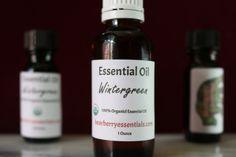 Wintergreen Essential Oil $8.00 - $14.00  100% Pure Organic Wintergreen Essential Oil