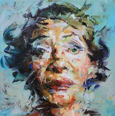 Fora do Tempo / Out of Time, por Paul Wright Abstract Portrait Painting, Portrait Art, Portrait Paintings, Face Paintings, Painting Canvas, Paul Wright, Human Figure Drawing, Modern Portraits, Texture Art