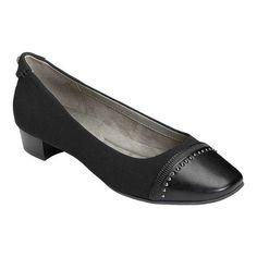 5f3165302b1 Women s A2 by Aerosoles Make Way Flat - Black Combo Faux Leather Fabric  Flats