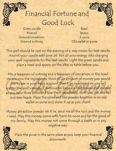 Image result for Witchcraft Money Spells
