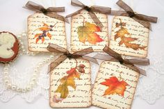 autumn leaves gift tags