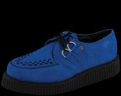 I think I'm in love  Electric Blue Suede Low Creeper - T.U.K. Shoes | T.U.K. Shoes
