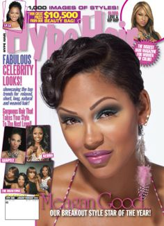 Hype Hair magazine is a hair care and beauty magazine for African-American women. Don't miss the most creative, up-to-date hairstyles, makeup tips, fashions and exclusive celebrity style tips in each issue of Hype Hair magazine. Long Natural Hair, Natural Hair Styles, Short Hair Styles, Black Women Short Hairstyles, Cute Hairstyles For Short Hair, Hair Magazine, Beauty Magazine, Megan Good, Date Hairstyles