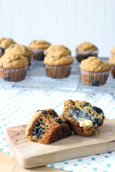Banana Blueberry Oat Muffins | Made with 100% whole grains, no processed sugar, and coconut oil instead of butter! These muffins are hearty, healthy, and delicious, and freezable for a quick and easy breakfast any day of the week.