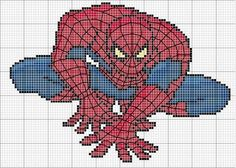 Free Spiderman cross stitch chart #stitching #cartoons