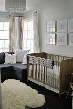 Grey neutral nursery design by Natalie Ann Photography
